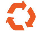 全て自社でリユース・リサイクル