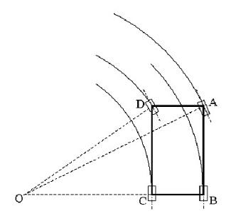 内輪差の計算の図解