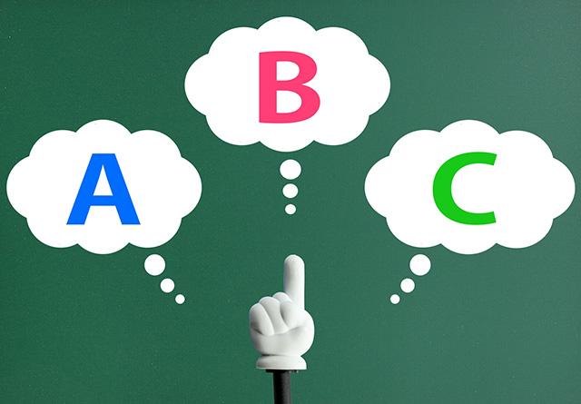 ABCの選択肢